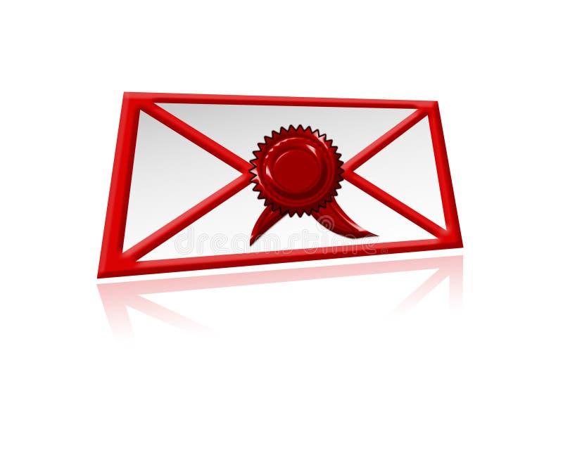 e重要邮件 库存例证
