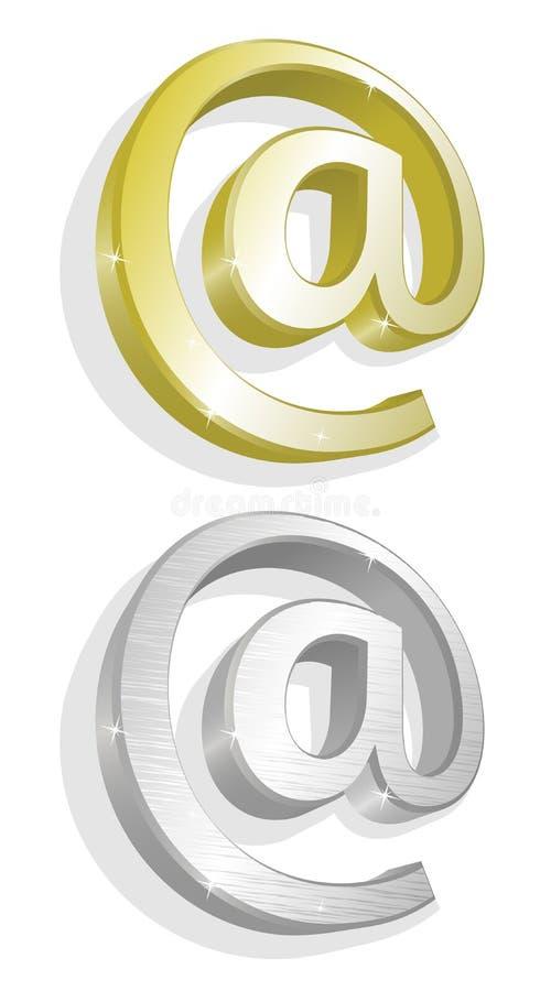 e金例证邮寄银二向量 皇族释放例证