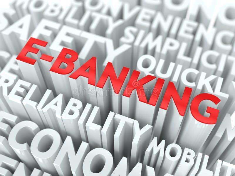 E银行业务概念。 皇族释放例证