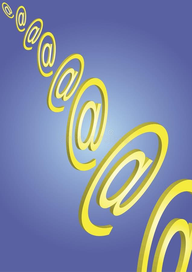 e飞行图标邮件 向量例证