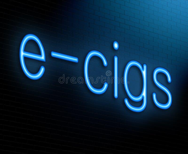 E香烟概念。 向量例证