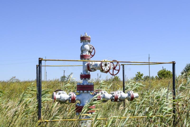 E Équipement de tête de puits de puits de pétrole Production de pétrole images libres de droits