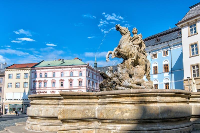 E взгляд городка республики cesky чехословакского krumlov средневековый старый стоковое фото