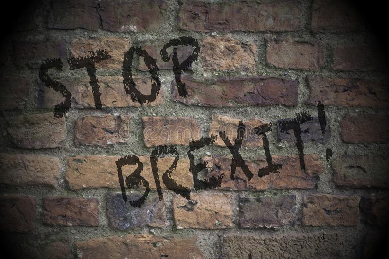 E Έννοια Brexit στοκ εικόνες