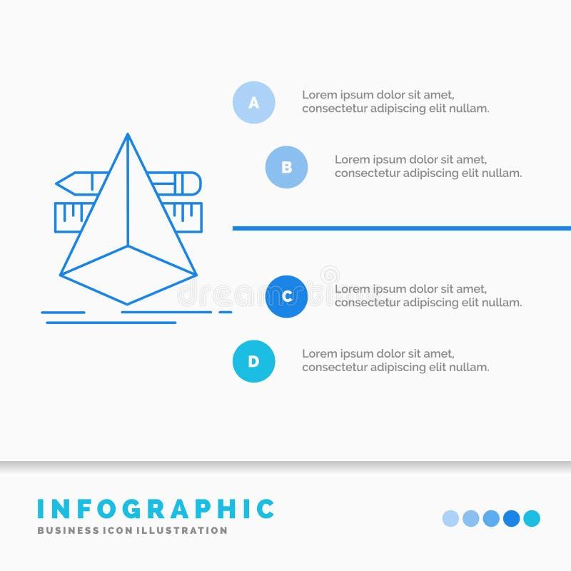 E Γραμμών μπλε διάνυσμα ύφους εικονιδίων infographic ελεύθερη απεικόνιση δικαιώματος