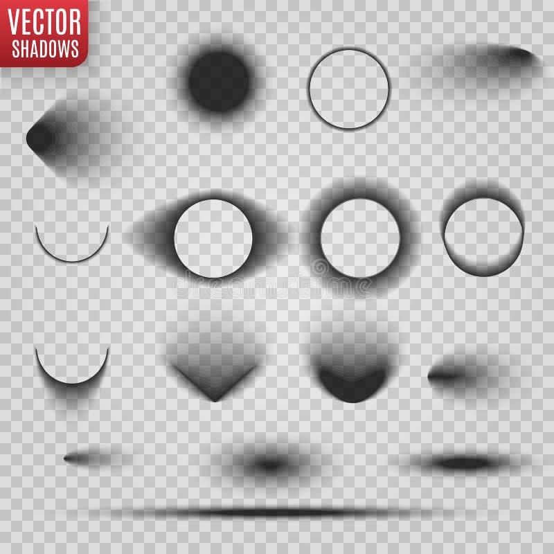 E Διαφανής ρεαλιστική απεικόνιση σκιών Διαιρέτης σελίδων με τις διαφανείς σκιές που απομονώνεται ελεύθερη απεικόνιση δικαιώματος