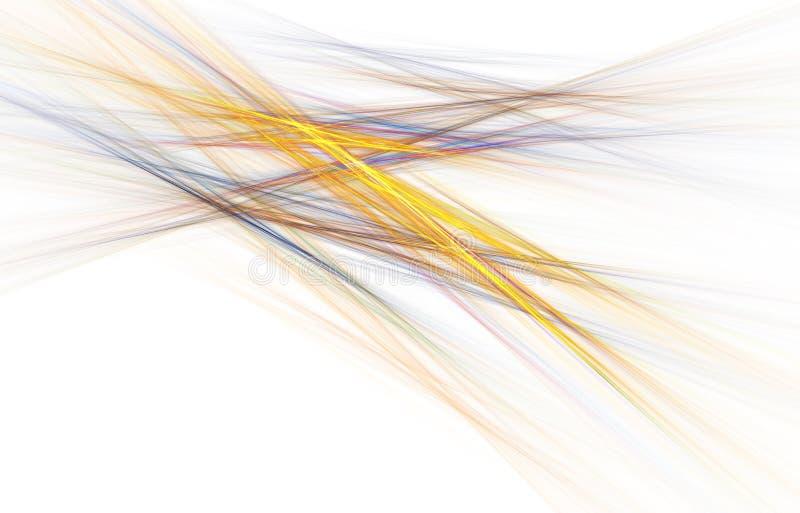 E Ενεργητικές ελαφριές διαδρομές και αποτελέσματα διανυσματική απεικόνιση