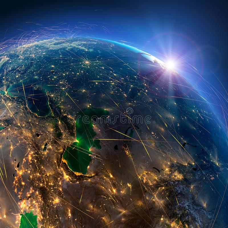E Ιράν και οι χώρες της κεντρικής Ασίας r στοκ φωτογραφία με δικαίωμα ελεύθερης χρήσης