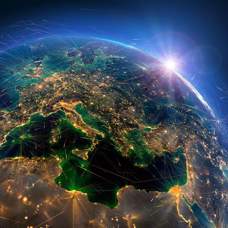 E Κεντρική Ευρώπη r στοκ εικόνες