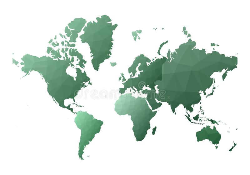 E κόσμιες χαμηλές πολυ ήπειροι ύφους απεικόνιση αποθεμάτων