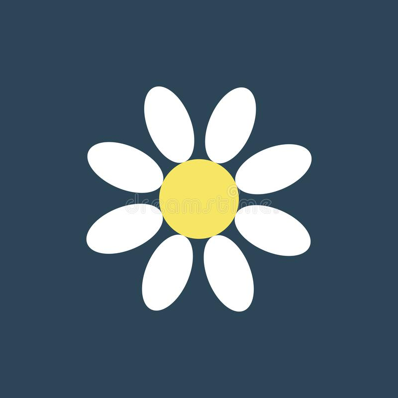 E Λουλούδι εικονιδίων σκιαγραφιών απεικόνιση αποθεμάτων