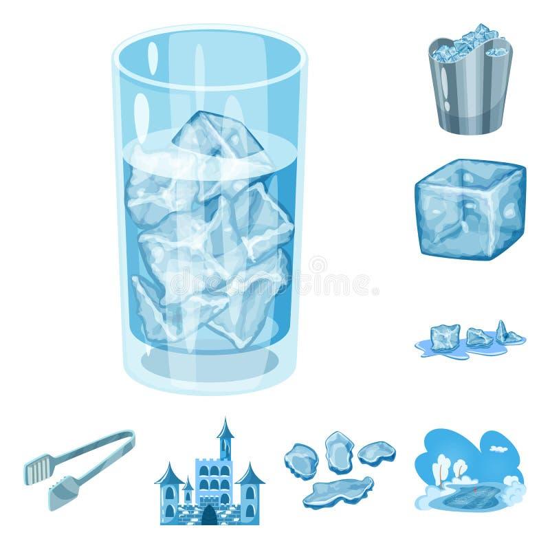 E Σύνολο παγετού και υγρού διανυσματικού εικονιδίου για το απόθεμα ελεύθερη απεικόνιση δικαιώματος