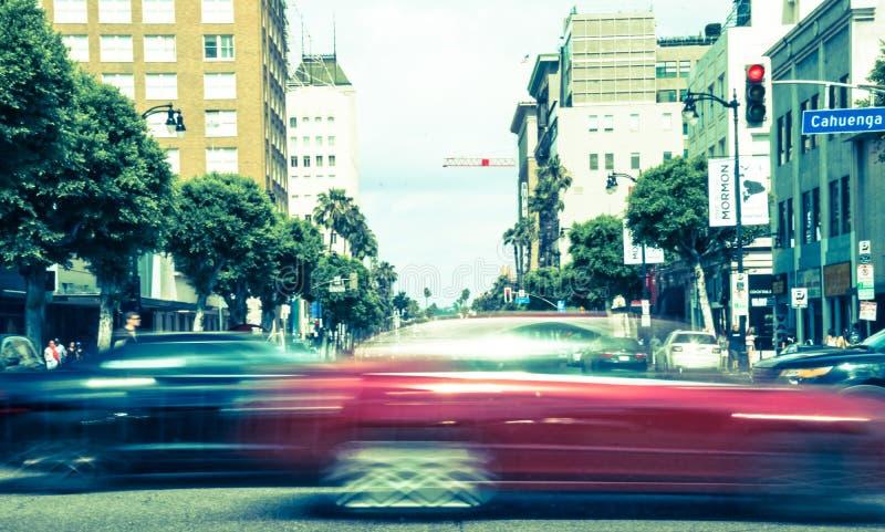 E Τουριστικό αξιοθέατο του Λος Άντζελες στην ημέρα στοκ εικόνα