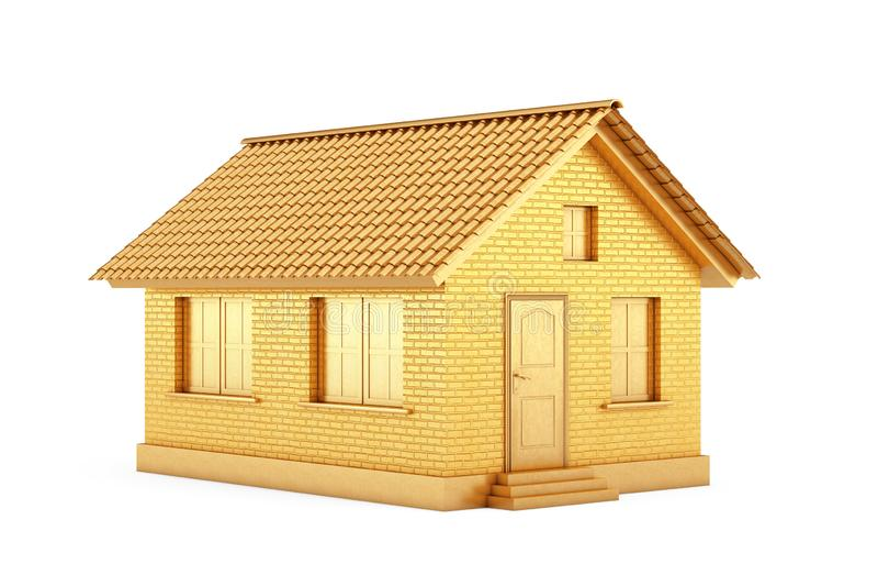 E Χρυσό σπίτι r απεικόνιση αποθεμάτων
