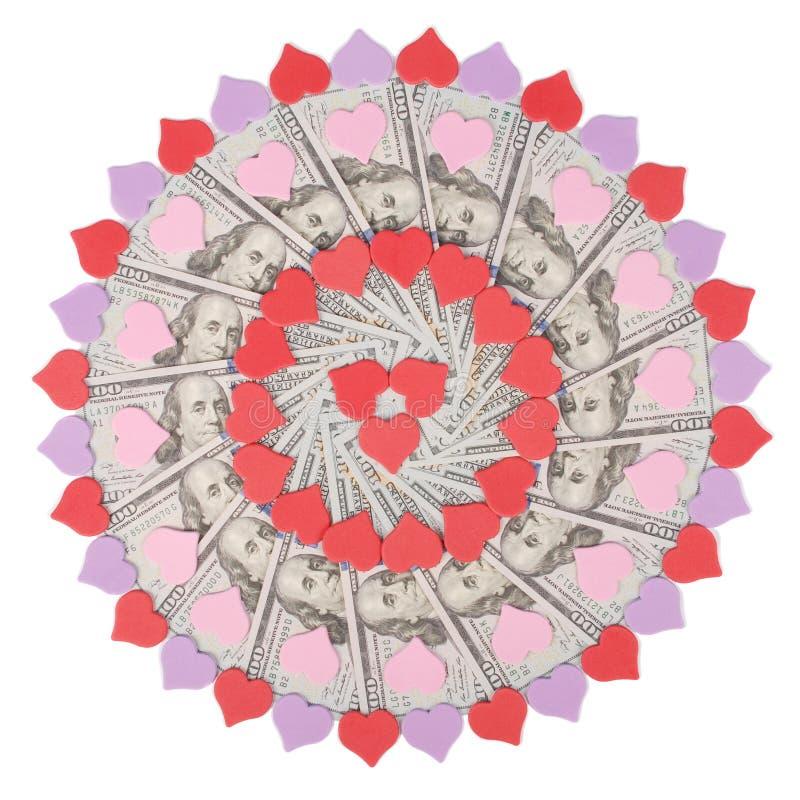 E Абстрактный круг мандалы повторения картины растра предпосылки денег стоковые изображения rf