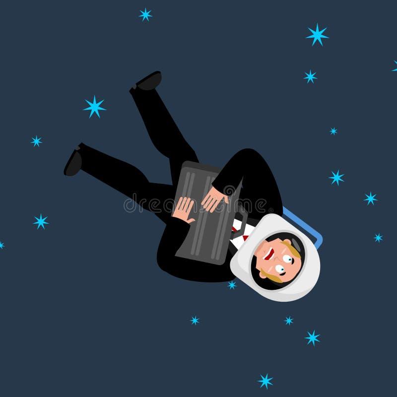E Астронавт дела Космонавт босса вектор иллюстрация вектора