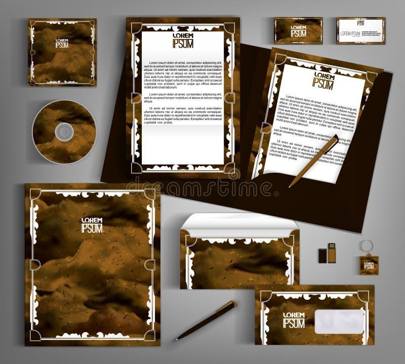 E Браун установил с абстрактными рамками стоковое фото rf