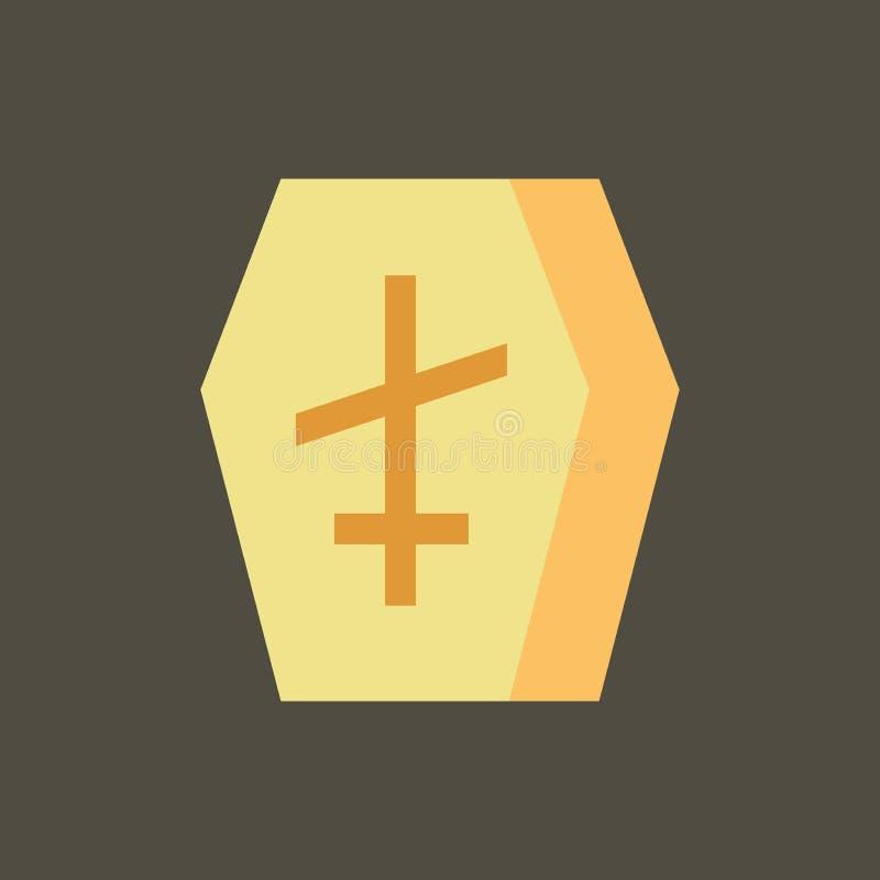 E Гроб значка силуэта иллюстрация вектора