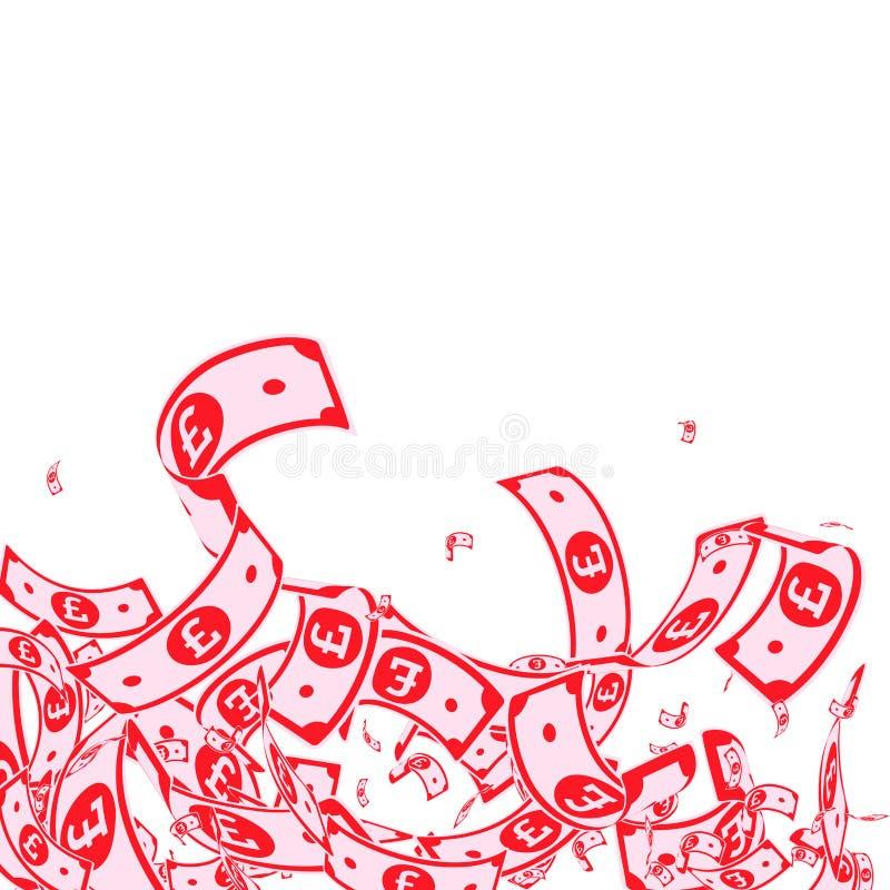 E Грязные счеты GBP на wh бесплатная иллюстрация