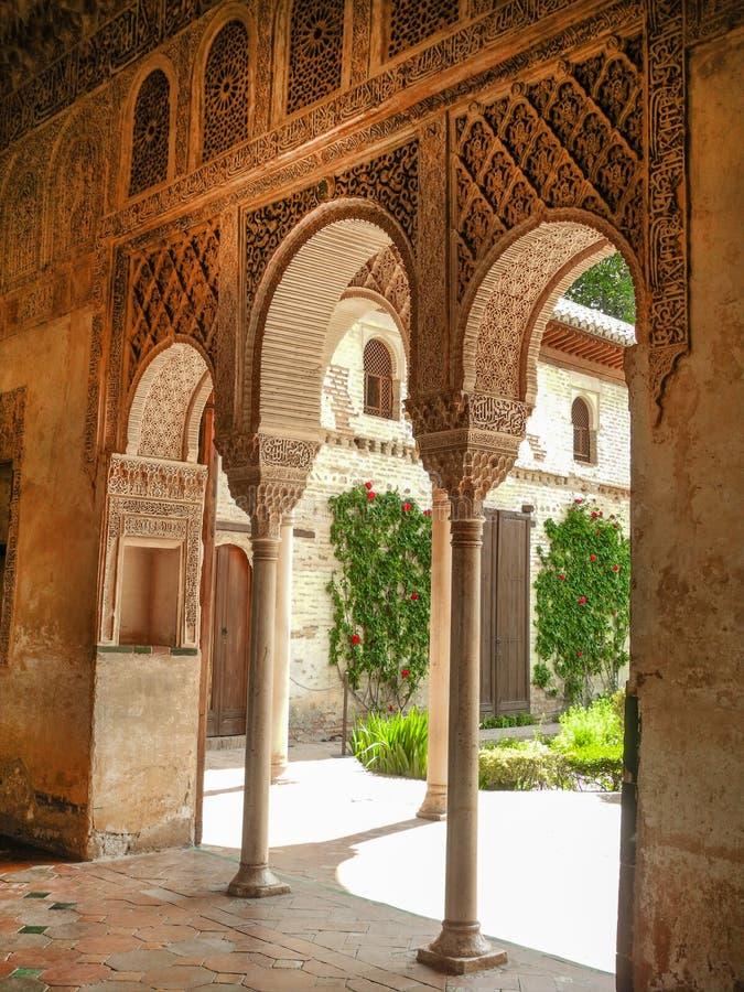 E дворец alhambra granada E стоковое изображение rf