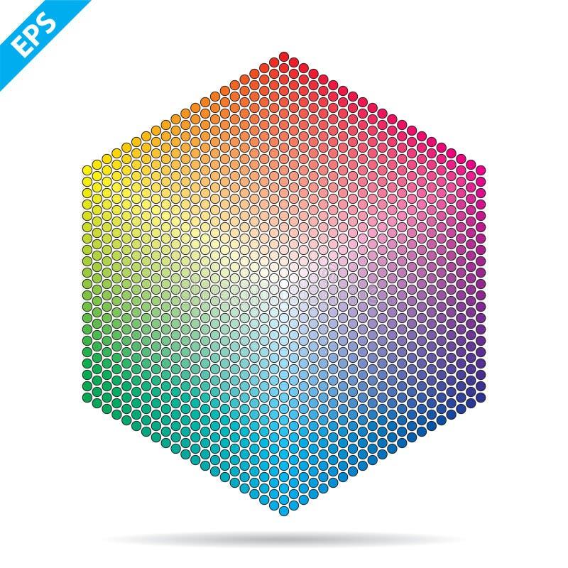 E 1261 другой цвет в небольших кругах в форме шестиугольника бесплатная иллюстрация