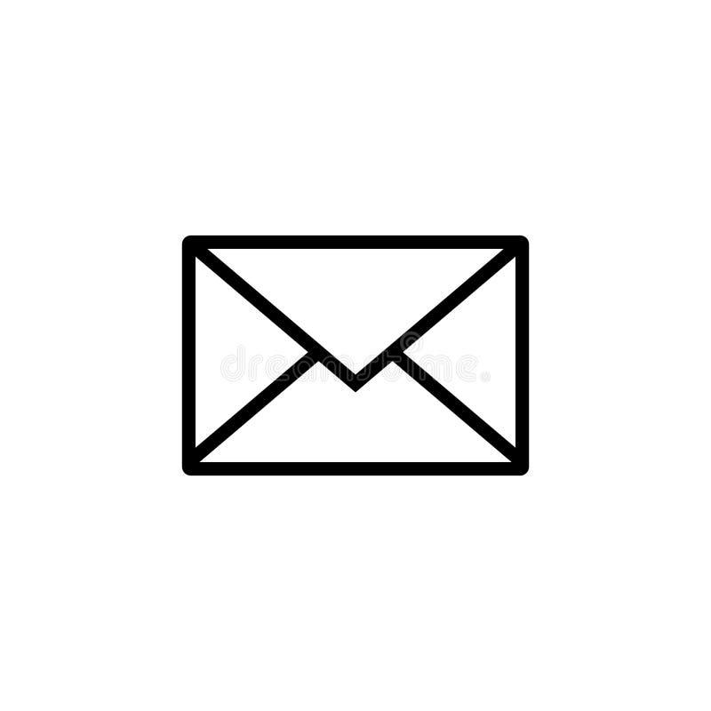 E Знак конверта r Прозрачная предпосылка Значок электронной почты иллюстрация штока