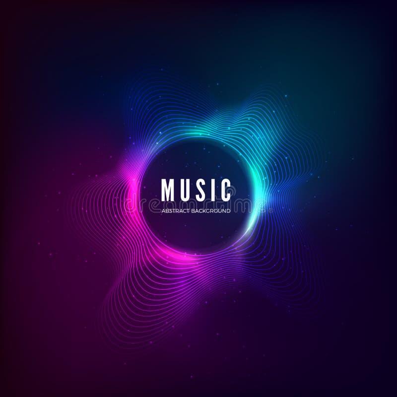 E Красочное визуализирование выравнивателя Абстрактная красочная крышка для плаката музыки иллюстрация штока
