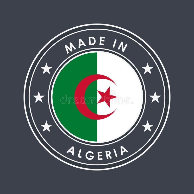 E Круглый ярлык с именем страны для уникальных национальных товаров r иллюстрация штока