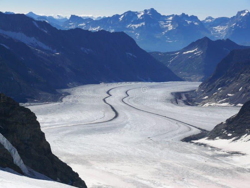 E Ледник Aletsch стоковые фото
