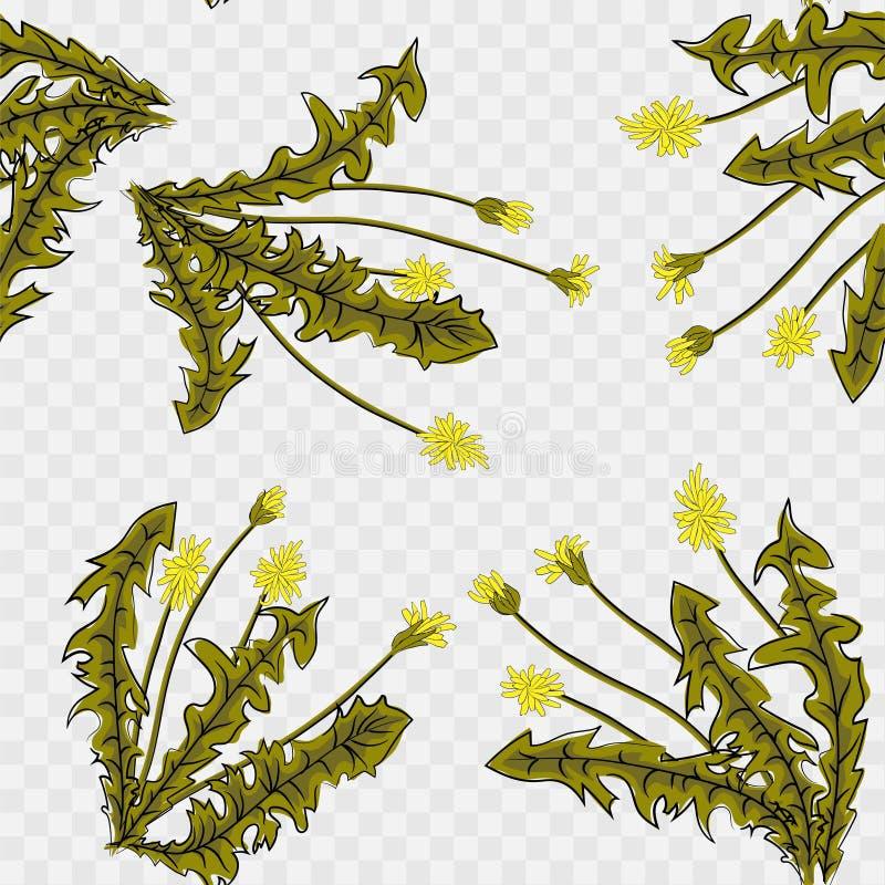 E Летание семян одуванчика Стильная повторяя текстура r бесплатная иллюстрация