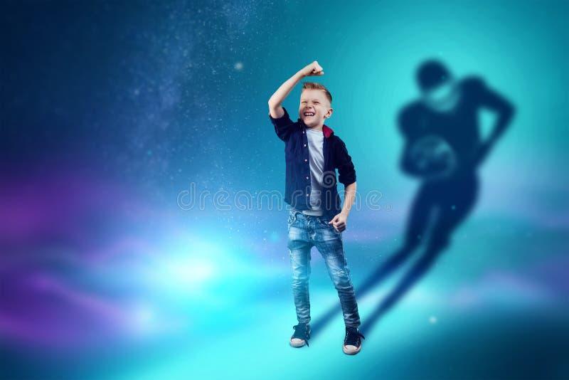 E Мечты мальчика игры американского футбола Профессия концепции, спорт, иллюстрация вектора