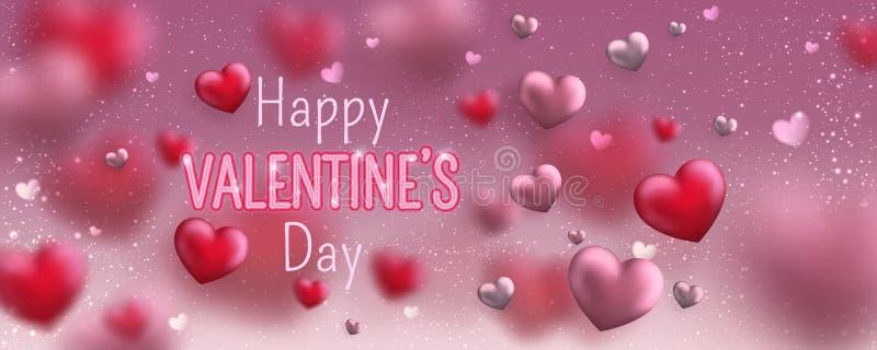 E Милое знамя любов на 14-ое февраля r иллюстрация штока