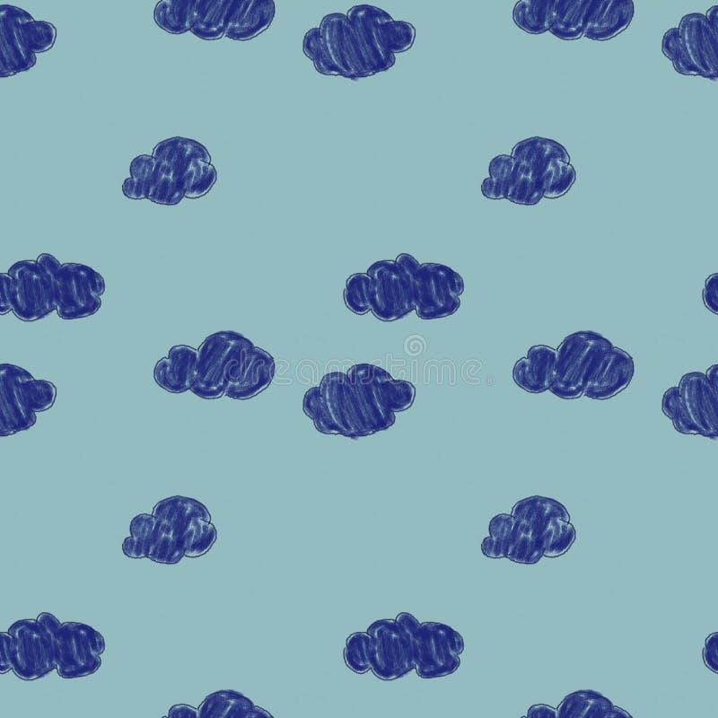 E Рай, облака Голубая текстура Дизайн для канцелярские товаров, карт, подарков, одежды, тканей бесплатная иллюстрация