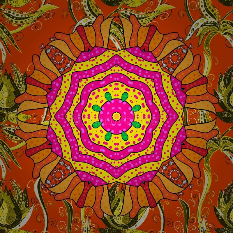E Священный геометрический символ вектора с много лепестков цветет иллюстрация штока