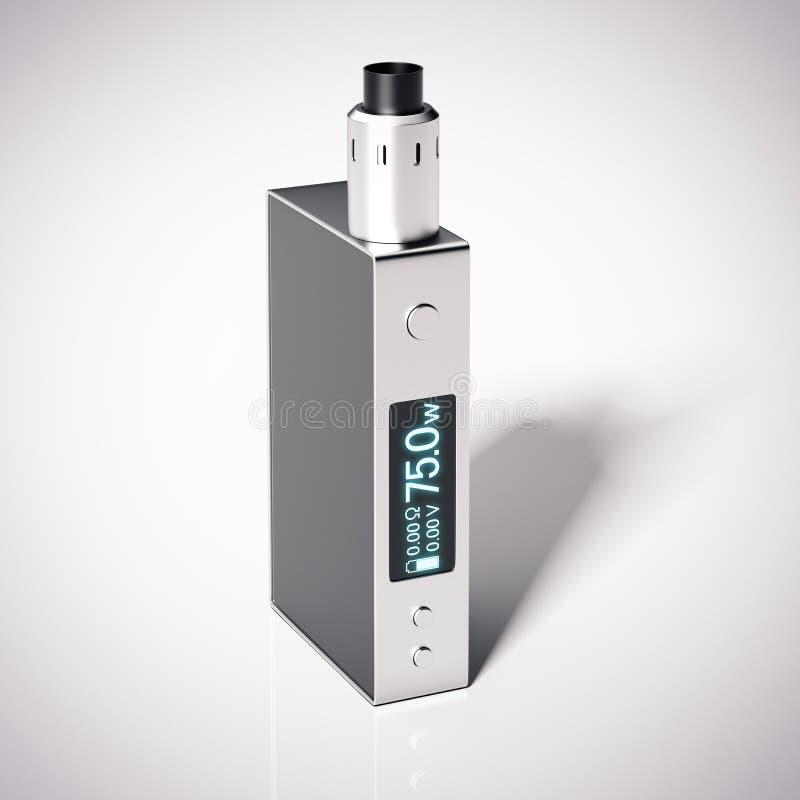 E-сигарета mod коробки с rebuildable атомизатором капания перевод 3d иллюстрация вектора