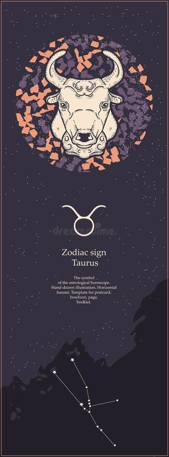 E Символ астрологического гороскопа r Вертикальное знамя r иллюстрация штока