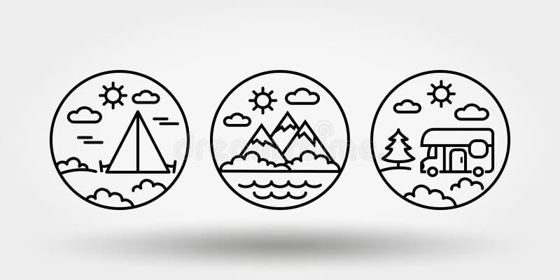 E Установите значков, логотипов бесплатная иллюстрация