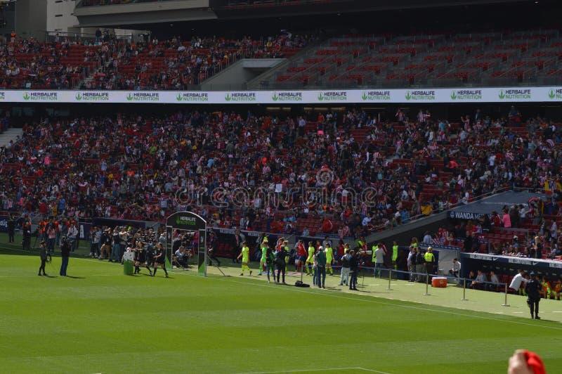 E Футбол женщин Atletico De Мадрид против клуба Барселоны Futbol Помощь мирового рекорда историческая публики к a стоковое изображение rf