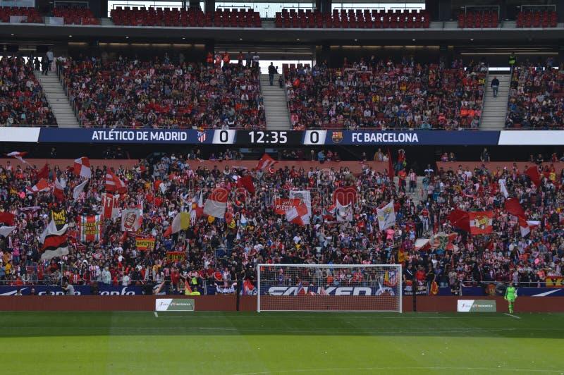 E Футбол женщин Atletico De Мадрид против клуба Барселоны Futbol Помощь мирового рекорда историческая публики к a стоковые изображения