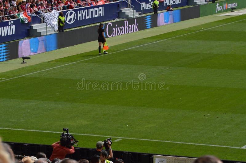 E Футбол женщин Atletico De Мадрид против клуба Барселоны Futbol Помощь мирового рекорда историческая публики к a стоковое фото rf