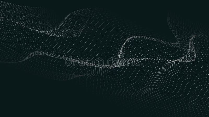 E Футуристическая волна пункта r E Волна 3d иллюстрация вектора