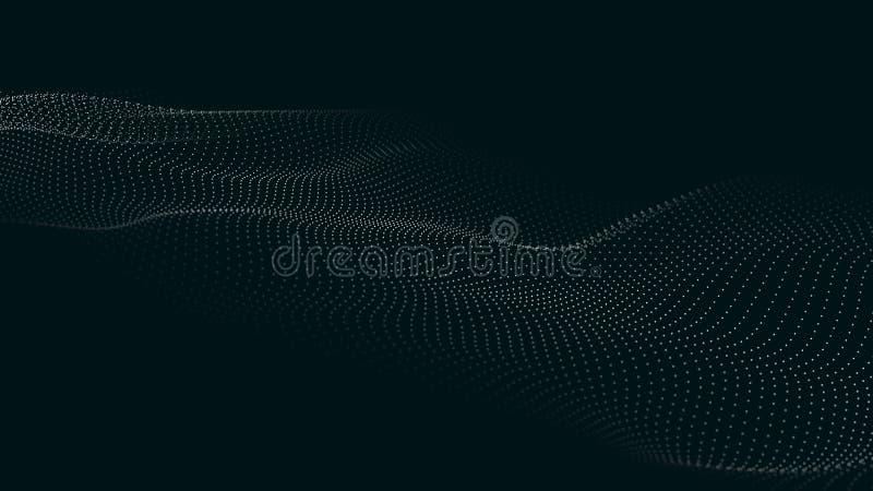 E Футуристическая волна пункта r E Волна 3d бесплатная иллюстрация