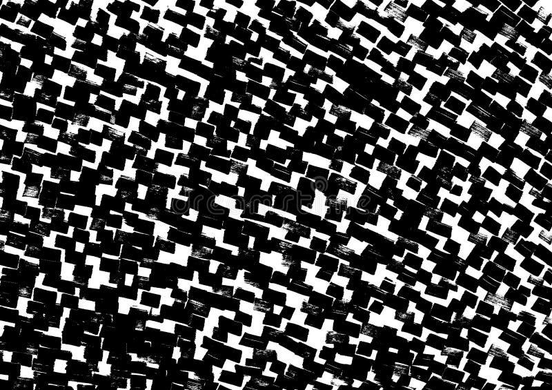 E Черные, белые и серые пятна иллюстрация вектора