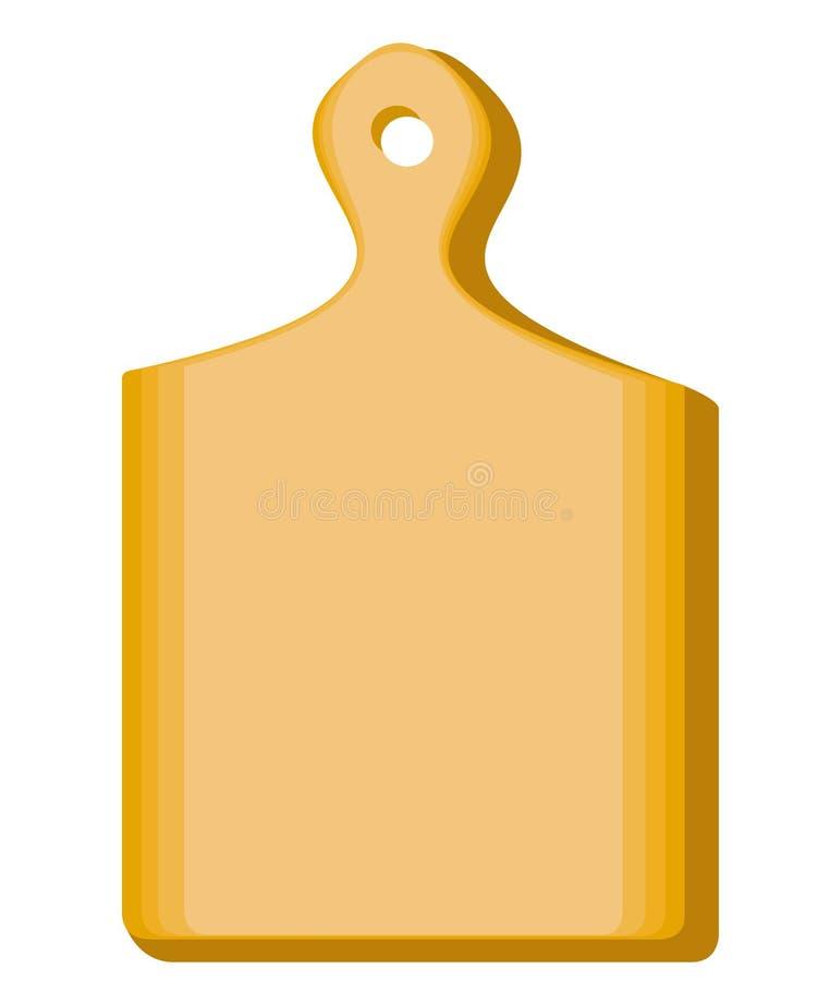 E 一个木板为换工食宿是必要的在处理的产品厨房里 ?? 向量例证
