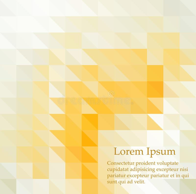 E 三角几何背景 r 黄色,橙色colros 免版税图库摄影