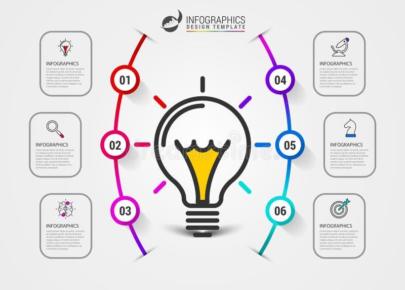 E 与6步的创造性的概念 库存例证