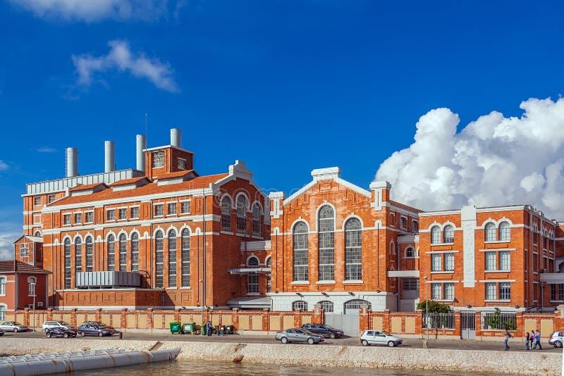 E 中央Tejo,老能源厂被转换成Museu da Electricidade 免版税图库摄影