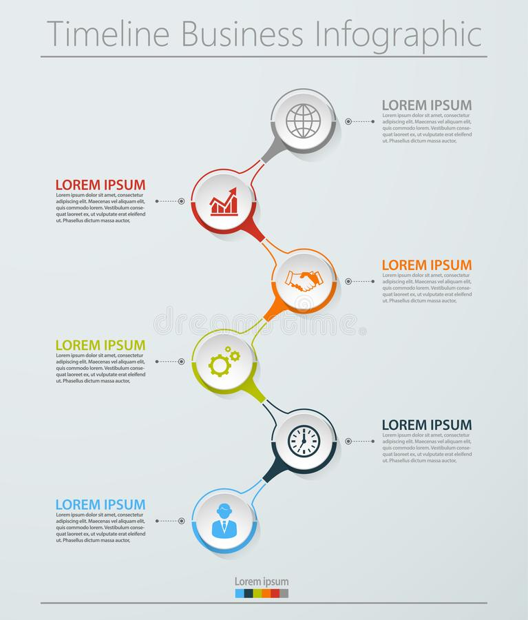E 为抽象背景模板设计的时间安排infographic象 免版税库存照片