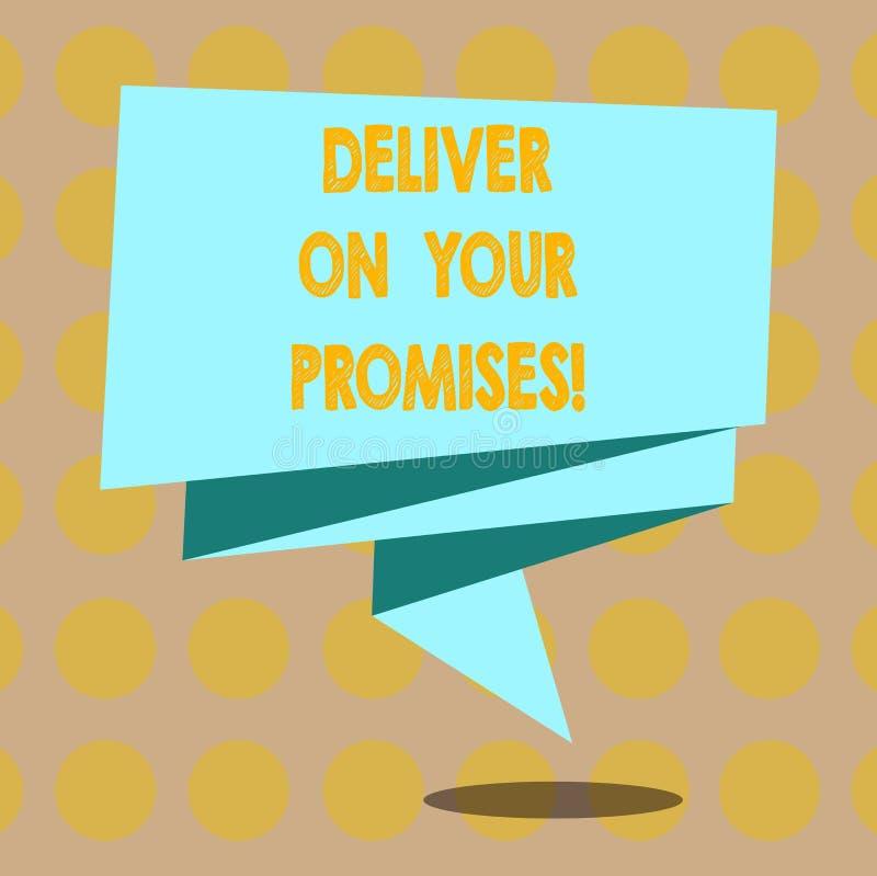 E 企业概念为做什么您许诺承诺发行折叠了3D 向量例证