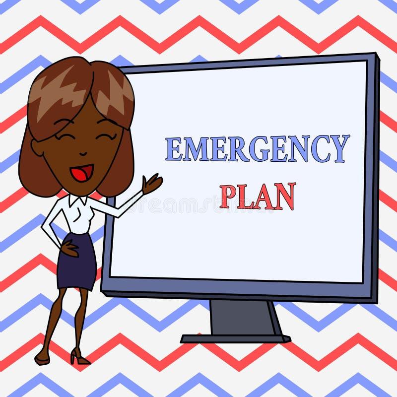 E 企业照片反应的文本做法对主要的紧急事件是 库存例证